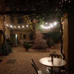 Courtyard at night